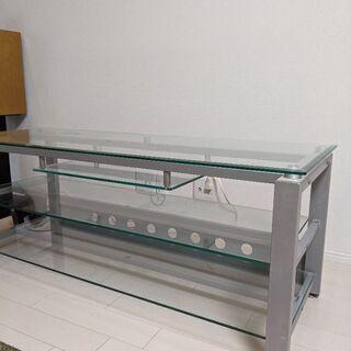 ガラステレビ台 幅122センチ