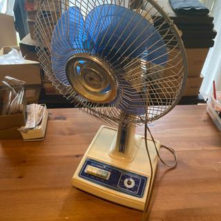 昭和レトロ 扇風機 青白 f-686