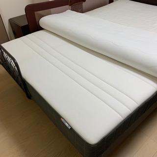 【ダブルベッド】 フランスベッド IKEAマットレス セット