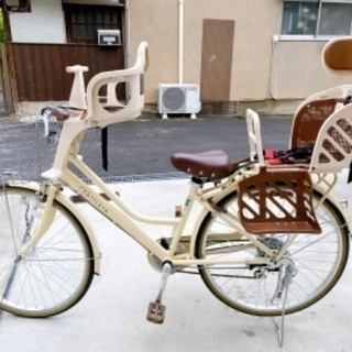 自転車 前後子供乗せ取り外し可能