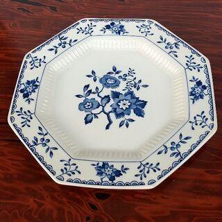 ★中古★レトロな花柄皿