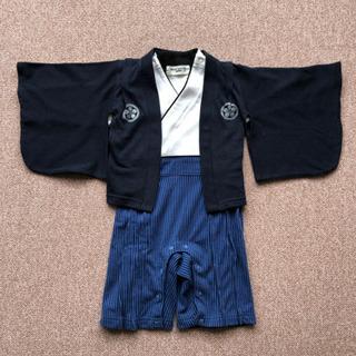 赤ちゃん袴風ロンパース!百日祝い等に。