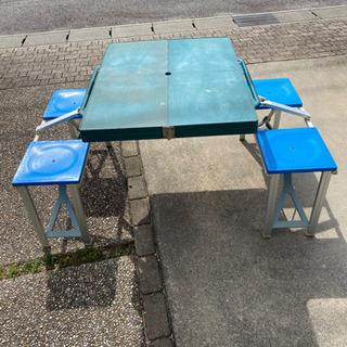 キャンプ、BBQ、運動会などコンパクト一体型テーブル&チェ…
