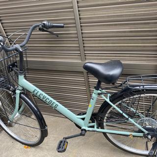 26インチ エルシコV グリーン 自転車