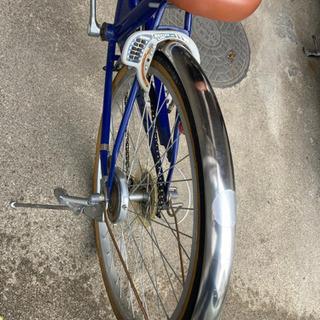 24インチ ネイビーおしゃれギア付き自転車 女の子に^^