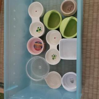 【使用済み、バラ売り可能1個¥500】小動物用食器10個