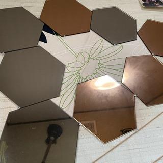 【5月中】IKEA壁に貼る鏡(ミラー)2種12枚