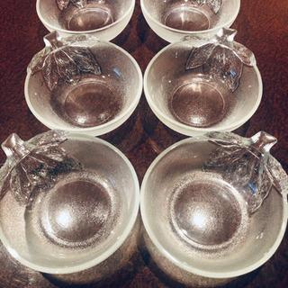 まもなく終了‼️未使用 野菜モチーフガラス皿 6個