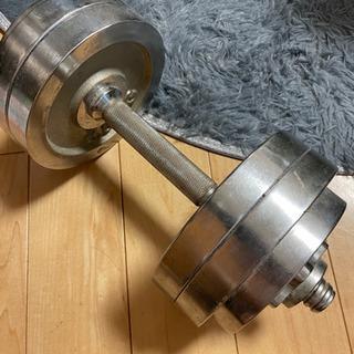 【引渡者決定】鉄アレイ バーベル15kg  ダンベル1つ