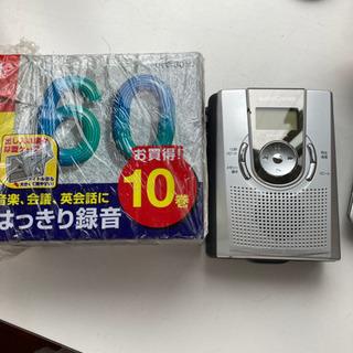 テープレコーダー カセットセット