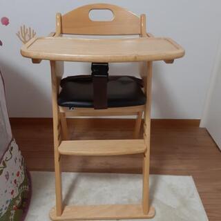 カトージ ベビーチェア ワイドハイチェア 木製 クッション…