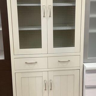 食器棚 クリームホワイトカラー【ユーズドユーズ名古屋天白店…