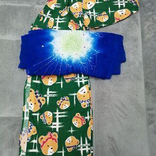 ミキハウス浴衣、兵児帯セット