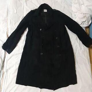 シワ加工のデザインジャケットコートLサイズ