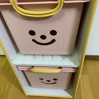 カラーボックス(可愛いケース付き)