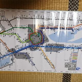 JR西日本 ア―バンネットワーク 路線図ステッカー 94年…