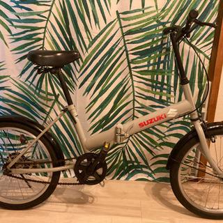 【ネット決済・配送可】綺麗です!折り畳み自転車鍵付き