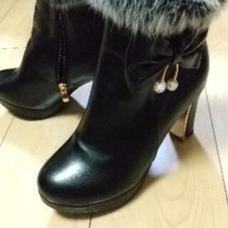 ショートブーツ 24.0cm ブラック