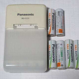 Panasonic:充電器、充電式EVOLTA電池