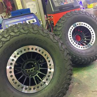 タイヤ交換 超引っ張り、ビードロック等特殊組込み対応