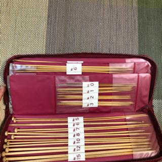 最高級竹製毛糸編み針