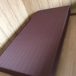 【美品】脚付きマットレスベッド