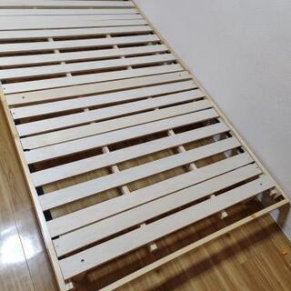 【ネット決済・配送可】セミダブルすのこベッド 使用期間3ヶ月