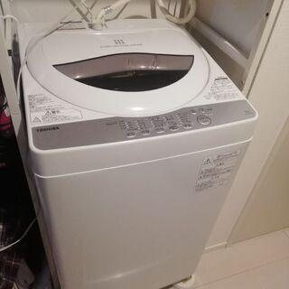 東芝 全自動洗濯機 5kg グランホワイト AW-5G6 W