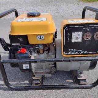 スズキ発電機SD2000R 一発始動ガソリンエンジン
