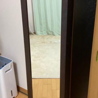 姿見 鏡 本棚 木製ラック
