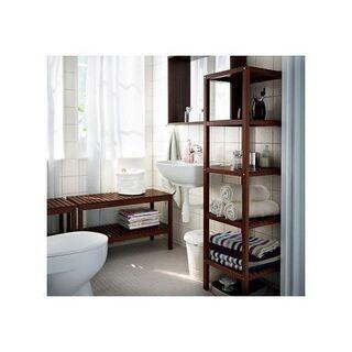 ほぼ未使用【IKEA イケア】「バスルーム収納・シェルフユニット...