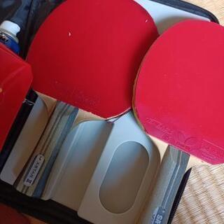 【ネット決済・配送可】卓球ラケット2本、ケース、ボールケース