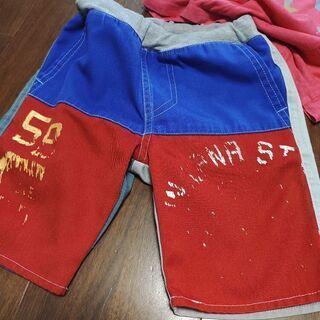 Tシャツ2枚&ハーフパンツ(サイズ100) − 新潟県