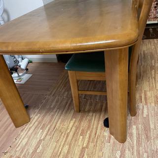 【ネット決済】カリモク ダイニングテーブル、椅子2脚
