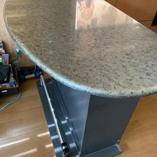 背面収納付きカウンターテーブル