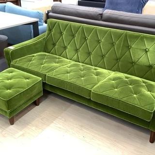 カリモク60のオットマン付3人掛けソファーをご紹介!