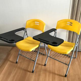 デスク付き チェア オフィス家具 テーブル付き 折りたたみチェア...