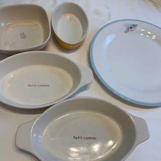 耐熱皿とお皿のセット