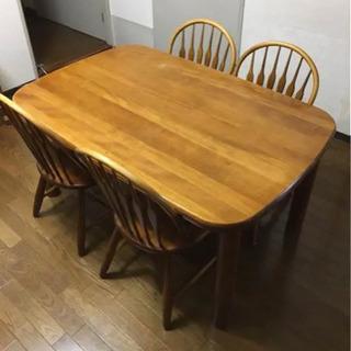 【ネット決済】ダイニングテーブルと椅子のセット