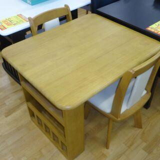 k261☆ニトリ☆ダイニングテーブル3点セット☆テーブル+椅子2...