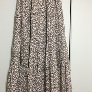 GU花柄ロングスカート Lサイズ