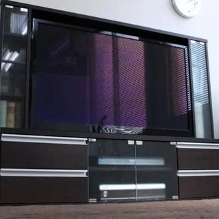テレビ台 ゲート型 50インチ ダークブラウン