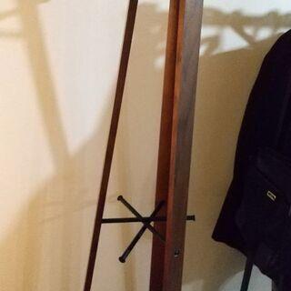 木製×アイアン★コート掛け★高さ165cm - 品川区