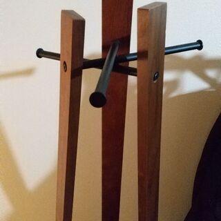 木製×アイアン★コート掛け★高さ165cm - 家具