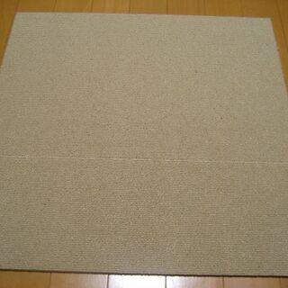 日本製タイルカーペット厚み6.5mm・1枚140円・在庫55枚(...