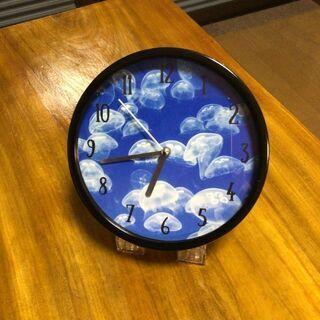クラゲ柄 掛け時計