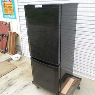 三菱MR-P15A2ドア ノンフロン冷凍冷蔵庫 2017年 ブラ...