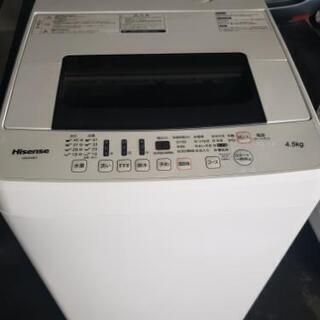 🚚配達設置無料‼(引取は値引き)HISENSE 4.5kg 洗濯...