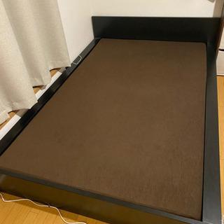 無料ベッド セミダブルベッドのフレームとマットレス