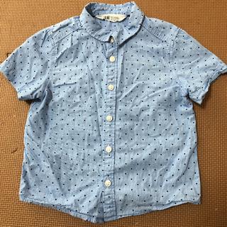 H&M エイチアンドエム 半袖シャツ 水玉
